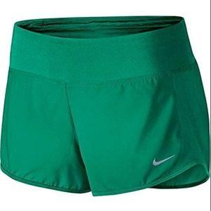 Nike Womens 3 Dry Running Sports Shorts Teal Green